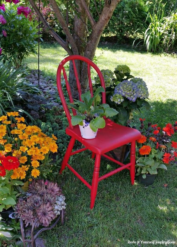 Little Red Garden Chair | Hometalk