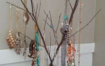 a jewelry tree cheap and functional jewelry display, crafts, repurposing upcycling