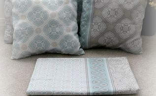 diy pillows from a shower curtain, crafts, repurposing upcycling, reupholster