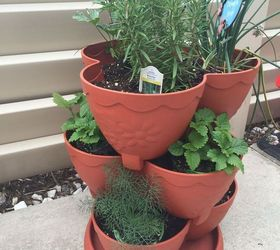 Stacked Herb Garden Containers, Container Gardening, Gardening, Homesteading