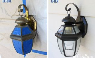 easy update to exterior lights, lighting, outdoor living, painting