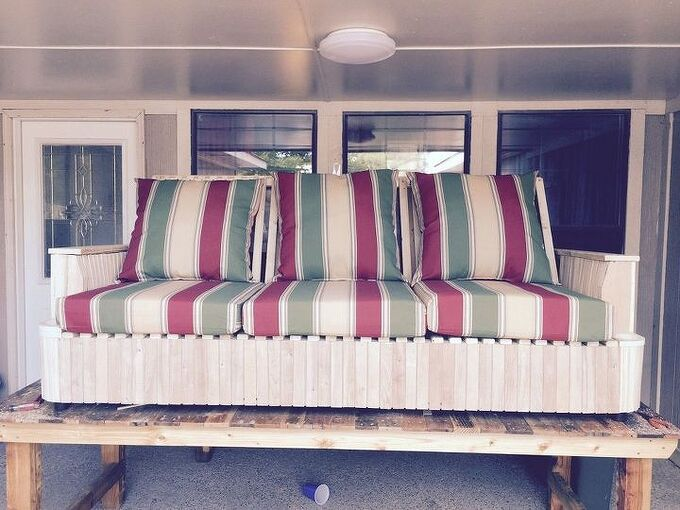 repurposing an old worn out sofa, painted furniture, repurposing upcycling