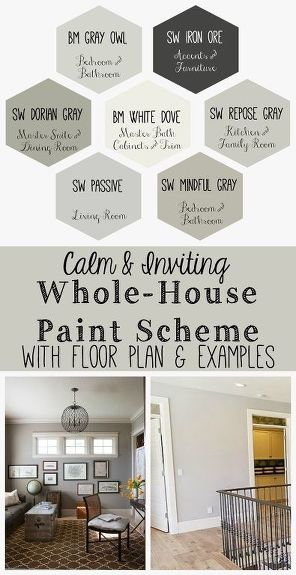Calm And Inviting Whole House Paint Scheme Home Decor Colors Painting