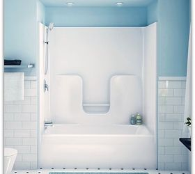 Q How To Clean Fiberglass Tub Shower Enclosure, Bathroom Ideas, Cleaning  Tips, How