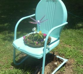 Painted Vintage Metal Lawn Chair, Outdoor Furniture, Painted Furniture,  Repurposing Upcycling