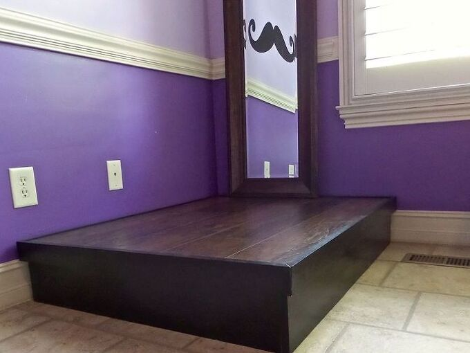 diy wood platform, diy, how to, woodworking projects