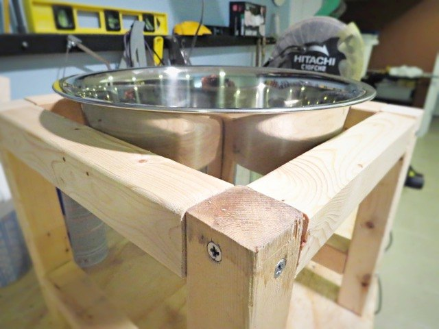 diy water bowl stand for the dog, diy, how to, pets animals, woodworking projects
