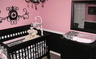 pretty in pink how to decorate a baby girls nursery creatively, bedroom ideas, how to