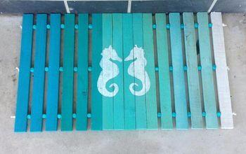 diy wood slat door mat, doors, how to, outdoor living, repurposing upcycling, woodworking projects