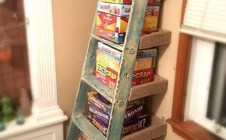 repurposed ladder shelf project, repurposing upcycling, shelving ideas, storage ideas