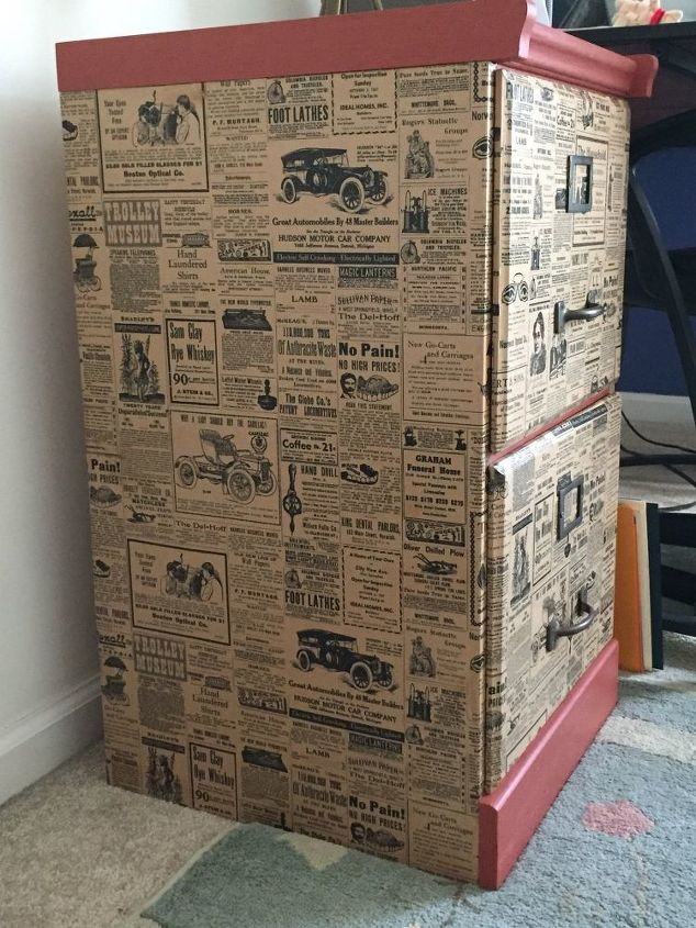 Famous File Cabinet upcycle with Wrapping Paper | Hometalk CH18