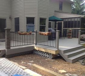 Amazing Replacing Old Wooden Deck With Composite Deck, Concrete Masonry, Decks,  Outdoor Living,