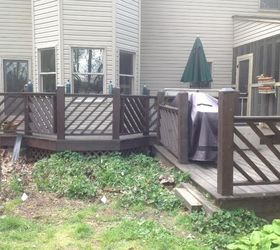 Charming Replacing Old Wooden Deck With Composite Deck, Concrete Masonry, Decks,  Outdoor Living,