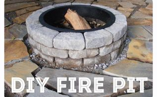 diy fire pit, how to, outdoor living