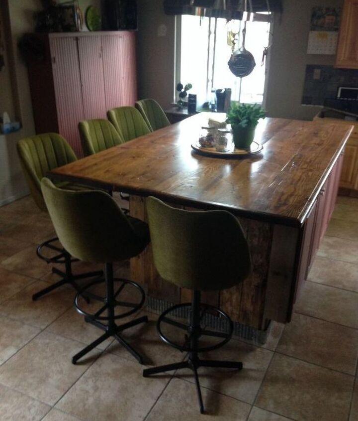 Finished island and bar stools