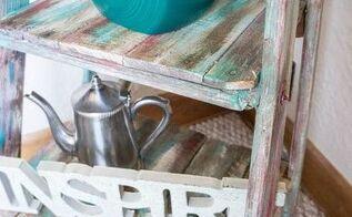 repurposed ladder shelf, how to, repurposing upcycling, shelving ideas