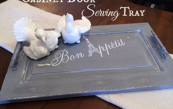 Old Cabiner Door?  Why Not Turn It Into a Serving Tray!