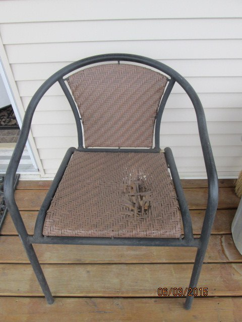 How To Fix An Outdoor Chair With A Big Hole Hometalk
