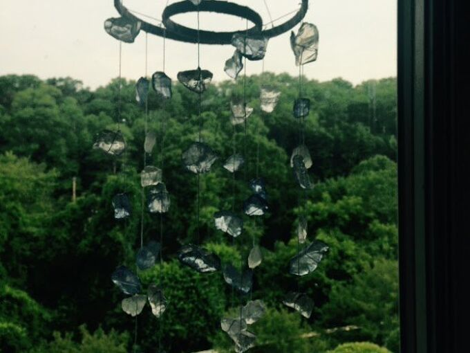 sea glass wind chime tutorial, crafts, how to, outdoor living