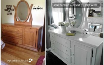 painted knotty pine vanity, painted furniture
