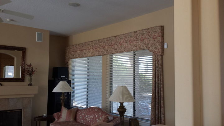 q painting upholstered cornices, painting, reupholster, window treatments