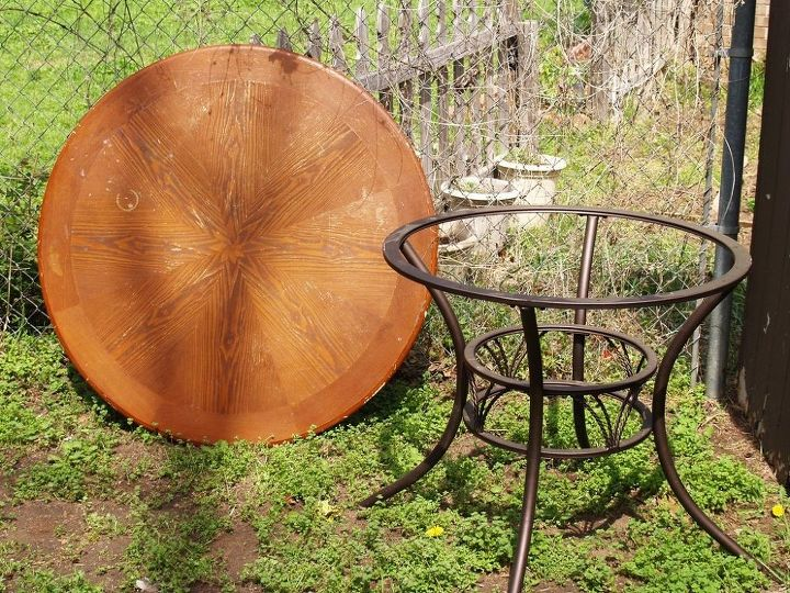 diy built in planter on outdoor table, container gardening, gardening, outdoor furniture, repurposing upcycling