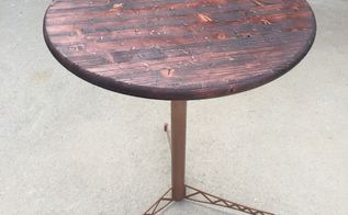 diy wood and metal porch table, diy, how to, outdoor furniture, painted furniture, woodworking projects
