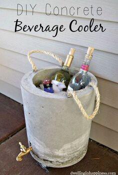 diy concrete beverage cooler, concrete masonry, crafts, diy, outdoor living, seasonal holiday decor