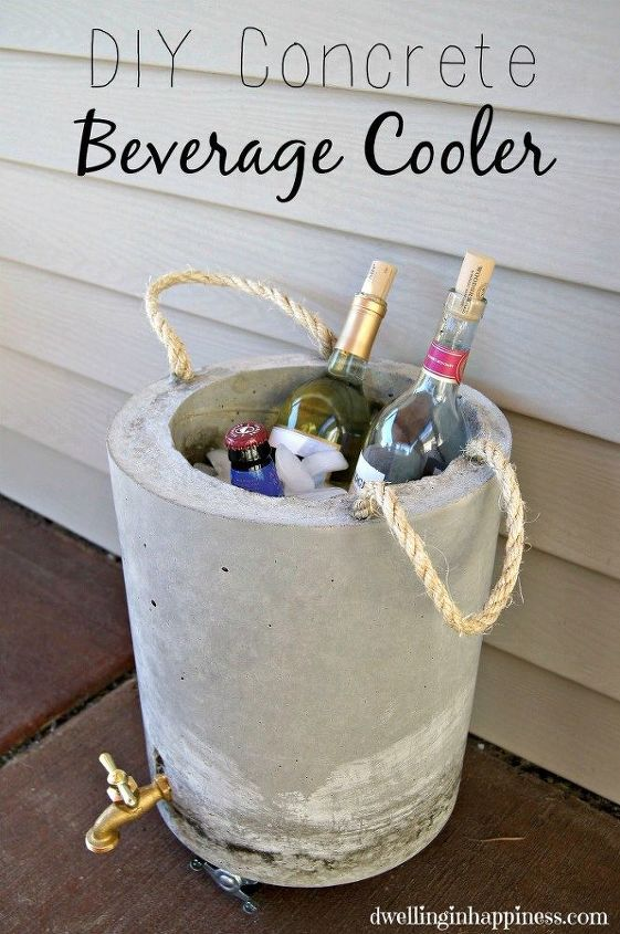 diy concrete beverage cooler, concrete masonry, crafts, diy, outdoor living, seasonal holiday decor