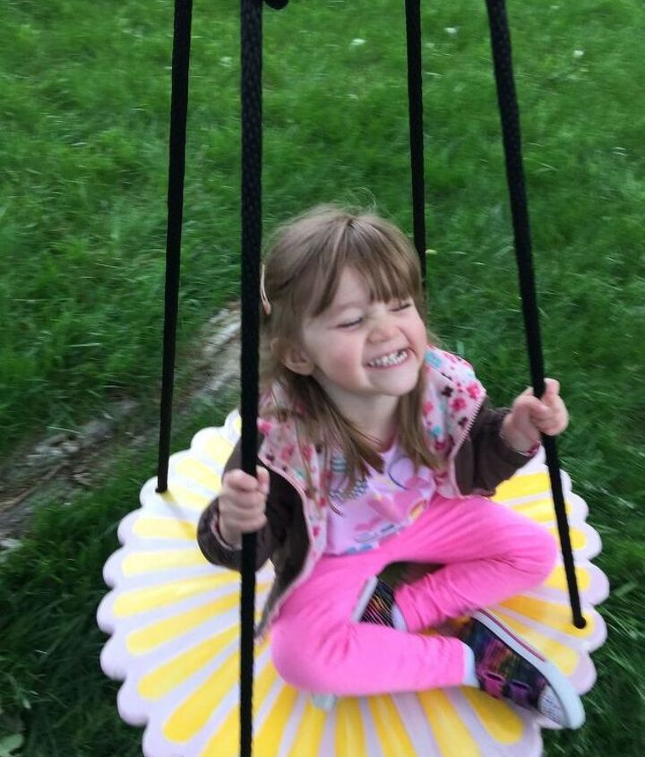 platform tree swing instead of tire swing, diy, how to, outdoor living, woodworking projects