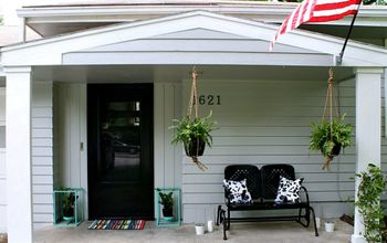 Front Porch Makeover on a  Budget