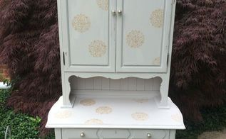 shabby chic glam makeover of ordinary desk chair, painted furniture, repurposing upcycling, shabby chic