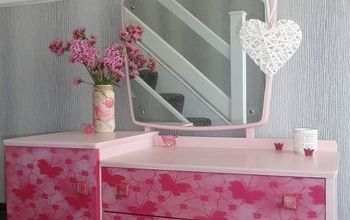 dressing table makeover shabby chic storage, painted furniture, shabby chic, storage ideas