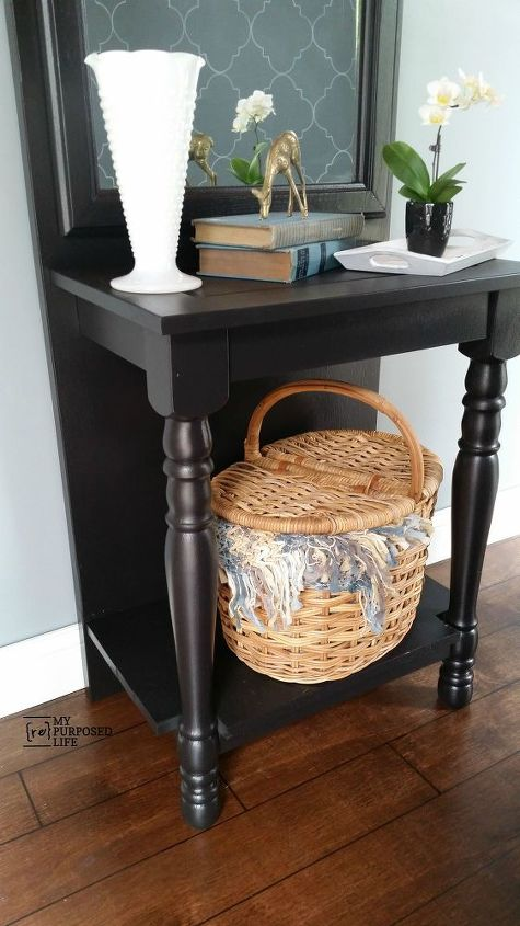 easy diy entry way table, foyer, painted furniture, repurposing upcycling