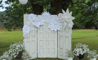 recycled doors for a boho wedding, doors, outdoor living, repurposing upcycling, shabby chic