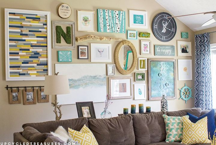 Massive gallery wall hometalk for Craft ideas for living room