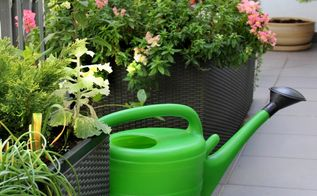 small space gardening with a lush green balcony garden, container gardening, flowers, gardening, porches, urban living, adequate drainage