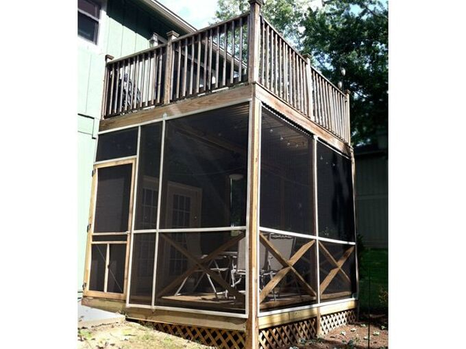 breezy bug free screened in porch, outdoor living, pest control, porches
