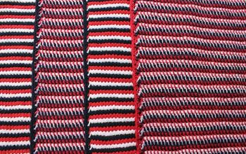 Patriotic Tunisian Crochet Placemats