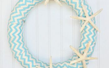 How to Make a Pool Noodle Starfish Wreath