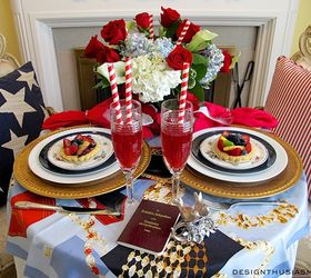 indoor table setting for the fourth of july dining room ideas flowers hydrangea & Indoor Table Setting for The Fourth of July | Hometalk
