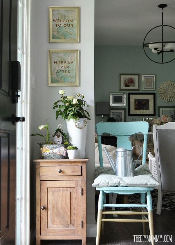 a vintage industrial country summer home tour, home decor, living room  ideas, repurposing