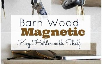 barn wood magnetic key holder, organizing, woodworking projects