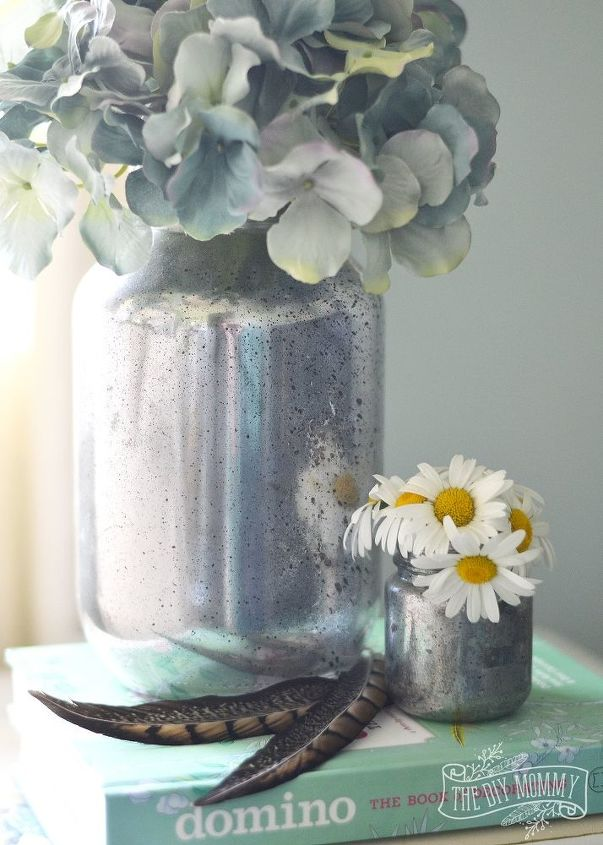 mercury glass vases from jars, crafts, how to, mason jars, repurposing upcycling