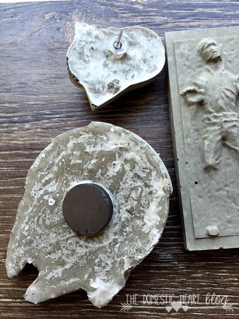 concrete starwars magnets pushpins easy diy father s day gift, concrete masonry, crafts, how to, seasonal holiday decor