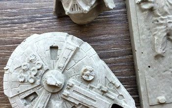 Concrete #StarWars Magnets & Pushpins: Easy DIY Father's Day Gift