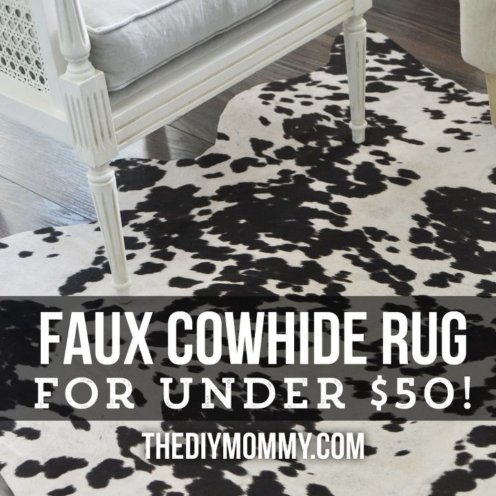 A Faux Cowhide Rug For Less Than 50 Home Decor Reupholster