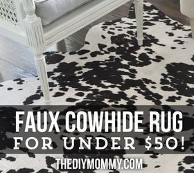 Charming A Faux Cowhide Rug For Less Than 50, Home Decor, Reupholster