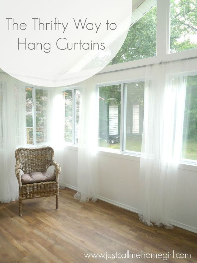 Inexpensive Way To Hang Curtains Hometalk