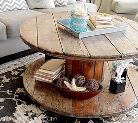 Weathered Spool Coffee Table, Painted Furniture, Repurposing Upcycling ...